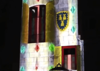 Video Mapping 3D Histórico del Palau de Requesens a Molins de Rei, Barcelona