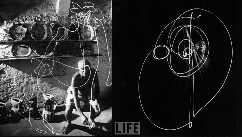Light painting y Picasso