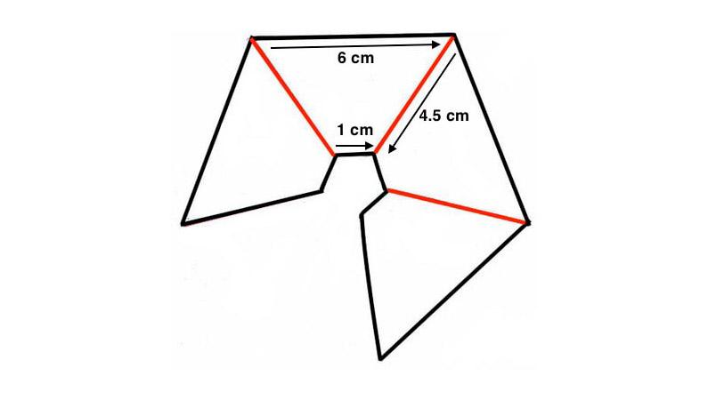 Pirámide Holográfica Medidas